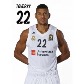 POSTAL REAL MADRID BALONCESTO 2018/2019 TAVARES