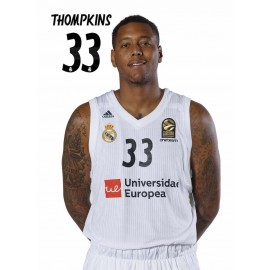 POSTAL REAL MADRID BALONCESTO 2018/2019 THOMPKINS