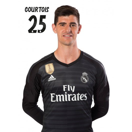 POSTAL REAL MADRID 2018/2019 COURTOIS BUSTO