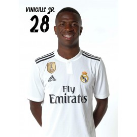 POSTAL REAL MADRID 2018/2019 VINICIUS JR BUSTO