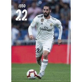 POSTAL REAL MADRID 2018/2019 ISCO ACCION