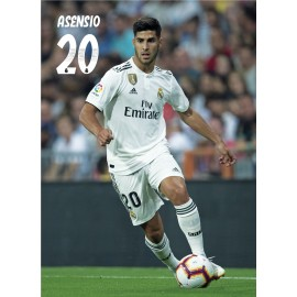 POSTAL REAL MADRID 2018/2019 ASENSIO ACCION