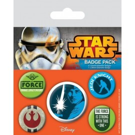 PACK CHAPAS STAR WARS (JEDI)