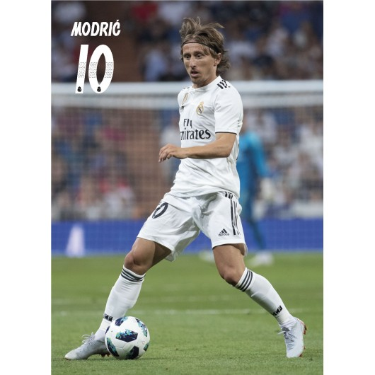 POSTAL REAL MADRID 2018/2019 MODRIC ACCION