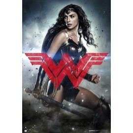 POSTER BATMAN V SUPERMAN WONDER WOMAN GLYPH