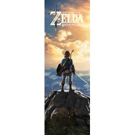 POSTER PUERTA THE LEGEND OF ZELDA BREATH OF THE WILD SUNSET