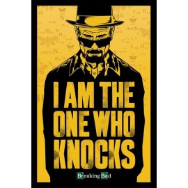POSTER BREAKING BAD I AM THE ONE WHO KNOCKS