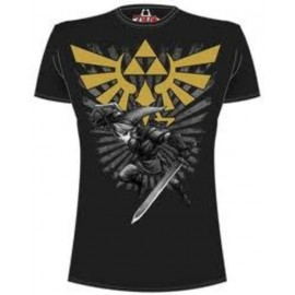 CAMISETA THE LEGEND OF ZELDA BLACK LINK L
