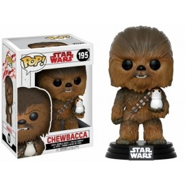 POP BOBBLE STAR WARS VIII CHEWBACCA WITH PORG