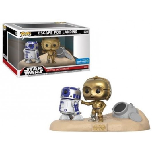 POP VINYL 2 PACK STAR WARS MOVIE MOMENTS R2 D2 AND C3 PO DESERT
