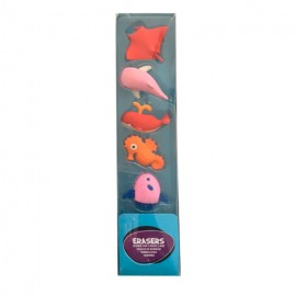 SET 5 GOMAS DE BORRAR FISHES