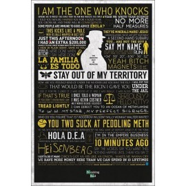 POSTER BREAKING BAD- TYPOGRAPHIC