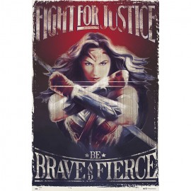 POSTER WONDER WOMAN FIGHT FOR JUSTICE-DCORG