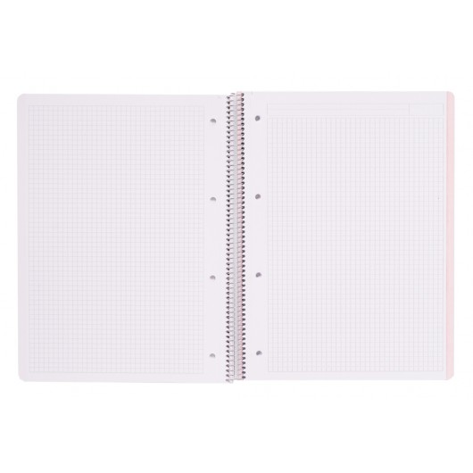 CUADERNO TAPA POLIPROPILENO A4 5X5 MICROPERFORADO PUSHEEN ROSE COLLECTION