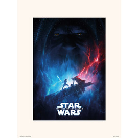 PRINT ENMARCADO 30X40 CM STAR WARS EPISODIO IX ONE SHEET