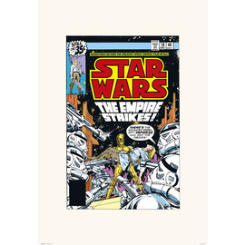 PRINT 45X65 CM STAR WARS 18 THE EMPIRE STRIKES