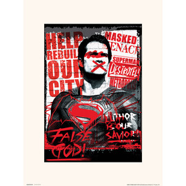 PRINT 30X40 CM DC BATMAN V SUPERMAN SUPERMAN FALSE GOD