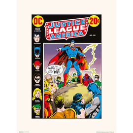 PRINT 30X40 CM DC JUSTICE LEAGUE OF AMERICA 102
