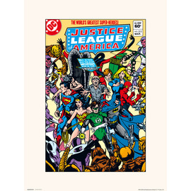 PRINT 30X40 CM DC JUSTICE LEAGUE OF AMERICA 212