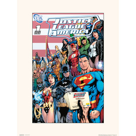 PRINT 30X40 CM DC JUSTICE LEAGUE OF AMERICA VOL 2 NO.1