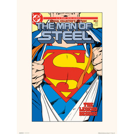 PRINT 30X40 CM DC THE MAN OF STEEL SCE 1