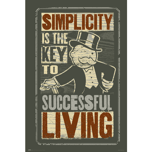POSTER MONOPOLY SIMPLICITY