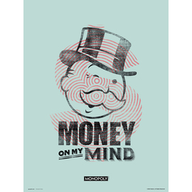 PRINT 30X40 CM MONOPOLY MONEY ON MY MIND