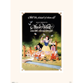 PRINT 30X40 CM WALT DISNEY SNOW WHITE