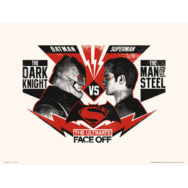 PRINT 30X40 CM DC BATMAN V SUPERMAN ULTIMATE FACE OFF