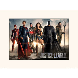 PRINT 30X40 CM DC COMICS JUSTICE LEAGUE MOVIE ALL CHARACTERS