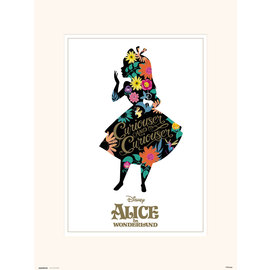 PRINT 30X40 CM DISNEY ALICE IN WONDERLAND SILHOUETTE