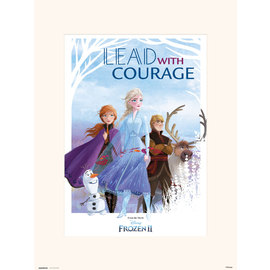 PRINT 30X40 CM DISNEY FROZEN LEAD WITH COURAGE