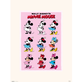 PRINT 30X40 CM DISNEY MINNIE MOUSE EVOL