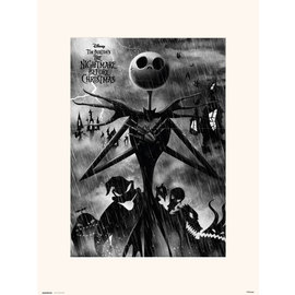 PRINT 30X40 CM DISNEY NIGHTMARE BEFORE CHRISTMAS JACK SKELLINGTON