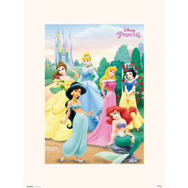 PRINT 30X40 CM DISNEY PRINCESS POSE