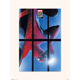 PRINT 30X40 CM MARVEL 80 YEARS SPIDERMAN