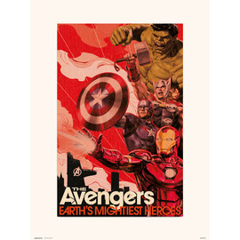 PRINT 30X40 CM MARVEL AVENGERS EARTHS MIGHTIEST HEROES
