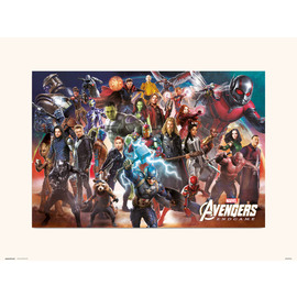 PRINT 30X40 CM MARVEL AVENGERS ENDGAME LINE UP