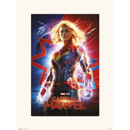 PRINT 30X40 CM MARVEL CAPITANA MARVEL ONE SHEET