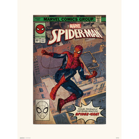 PRINT 30X40 CM MARVEL SPIDER-MAN COMIC FRONT