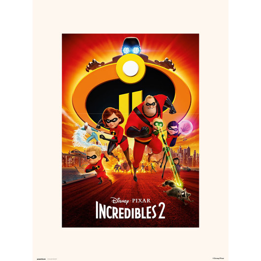 PRINT 30X40 CM DISNEY THE INCREDIBLES 2 ONE SHEET