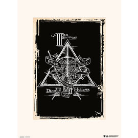 PRINT 30X40 CM HARRY POTTER DEATHLY HALLOWS SYMBOL