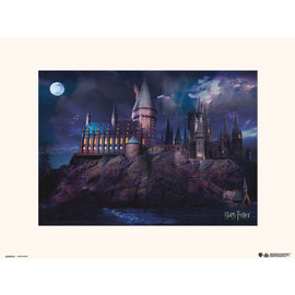 PRINT 30X40 CM HARRY POTTER HOGWARTS