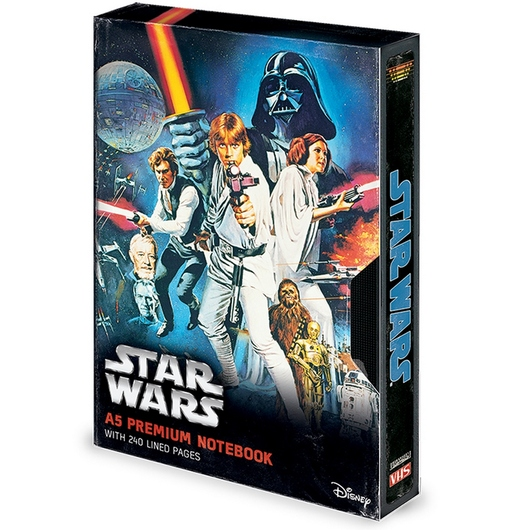 CUADERNO A5 PREMIUM STAR WARS A NEW HOPE VHS