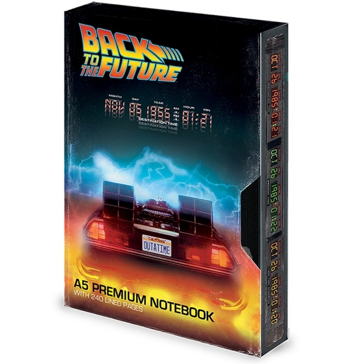 CUADERNO A5 PREMIUM BACK TO THE FUTURE VHS