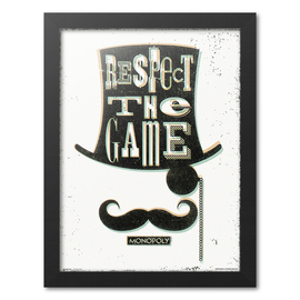 PRINT ENMARCADO 30X40 CM MONOPOLY RESPECT THE GAME