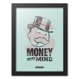PRINT ENMARCADO 30X40CM MONOPOLY MONEY ON MY MIND