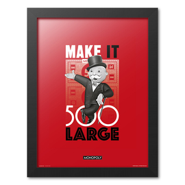 PRINT ENMARCADO 30X40CM MONOPOLY MAKE IT 500 LARGE