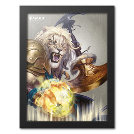 PRINT ENMARCADO 30X40 CM MAGIC THE GATHERING AJANI