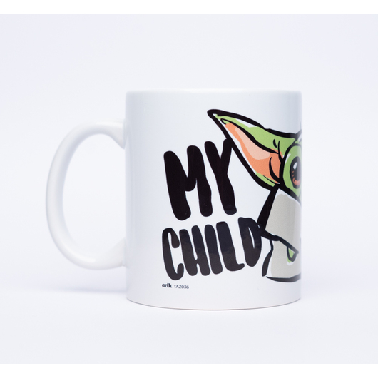 TAZA STAR WARS THE MANDALORIAN MY CHILD CAN LEVITATE YOUR CHILD